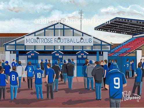 Montrose F.C Links Park Stadium Stadium Framed High Quality Art