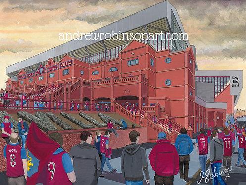 Aston Villa F.C, Villa Park Stadium High Quality Framed Giclee Art Print