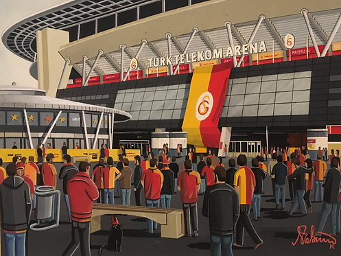 Galatasaray Turk Telekom Arena High Quality Framed Art Print