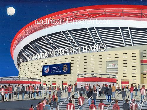Atletico Madrid Metropolitano Stadium Framed High Quality Art Prin