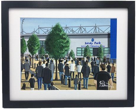Exeter Chiefs, Sandy Lane  Stadium. Framed High Quality Art Print