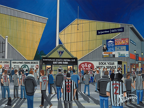 Dunfermline Athletic F.C, East End Park Stadium Framed High Quality Art Print