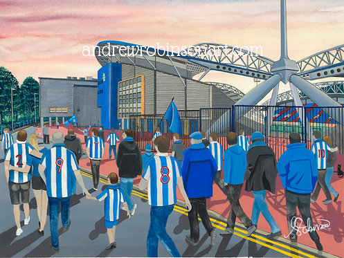 Huddersfield Town A.F.C, Kirklees Stadium High Quality Framed Giclee Art Print