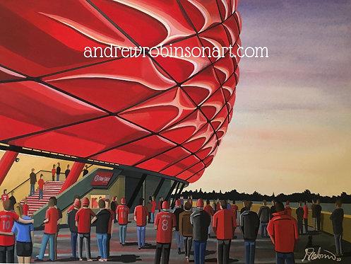 Bayern Munich, Allianz Arena Framed High Quality Art Print