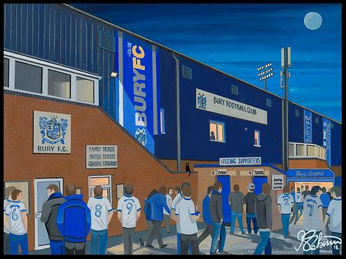 Bury F.C, Gigg Lane Stadium High Quality framed Art Print