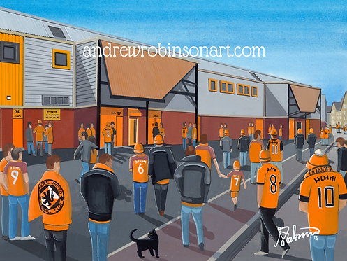Dundee United F.C Tannadice Park Stadium. Framed High Quality Art Print