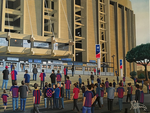 Barcelona F.C. Camp Nou High Quality Framed Art Print