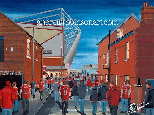 Crewe Alexandra FC Gresty Road Stadium High Quality Framed Art Print