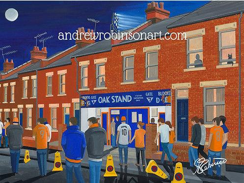 Luton Town F.C, Kenilworth Road Stadium High Quality framed Giclee Art Print