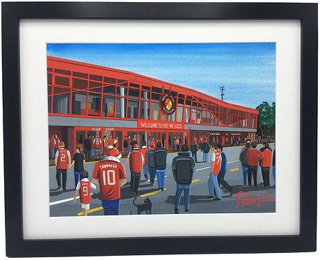 Ebbsfleet Utd F.C Stonebridge Road Stadium Framed High Quality Art Print