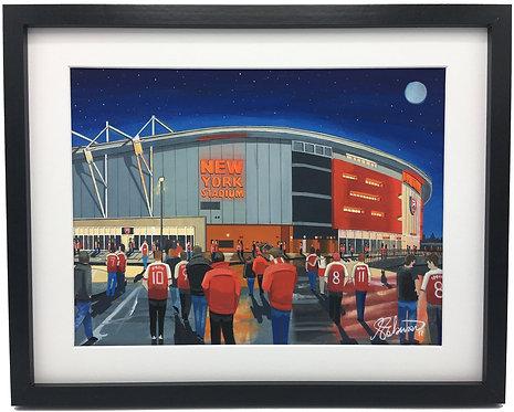 Rotherham United F.C, New York Stadium High Quality Framed Giclee Art Print