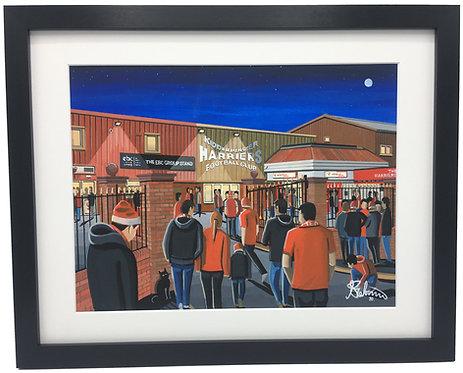 Kidderminster Harriers F.C, Aggborough Stadium. Framed High Quality Art Print