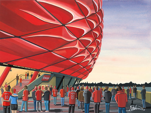 Bayern Munich, Allianz Arena Framed High Quality Art Print