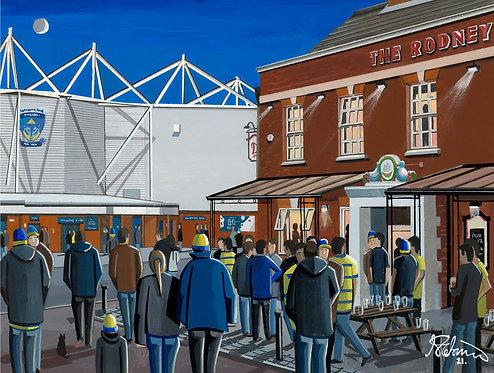 Warrington Wolves, Halliwell Jones Stadium. Framed High Quality Art Print