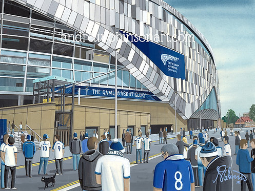 Tottenham Hotspur F.C New Stadium High Quality Framed Art Print