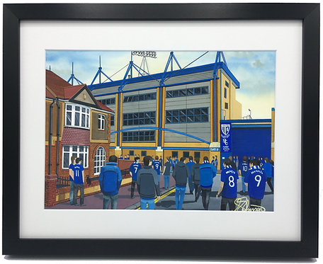 Gillingham FC Priestfield Stadium High Quality Framed Print