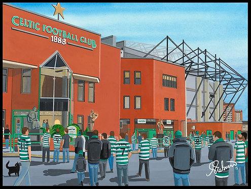 Celtic F.C,  Celtic Park Stadium High Quality Framed Giclee Art Print