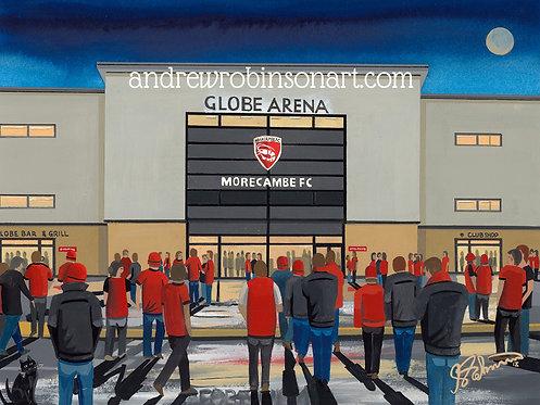 Morecambe F.C Globe Arena High Quality Framed Art Print
