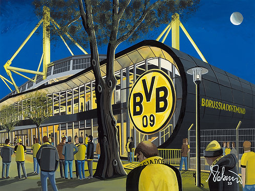 Borussia Dortmund, Westfalenstadion. Framed High Quality Art Print