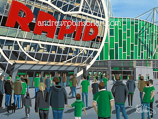 Rapid Vienna, Allianz Stadion. Framed High Quality Art