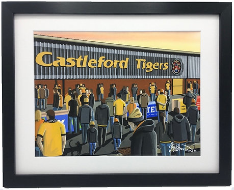 Castleford Tigers, Wheldon Road/The Jungle Stadium Framed High Quality Art Print