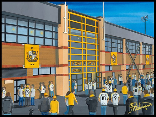 Port Vale F.C, Vale Park Stadium High Quality framed Artists Proof Print