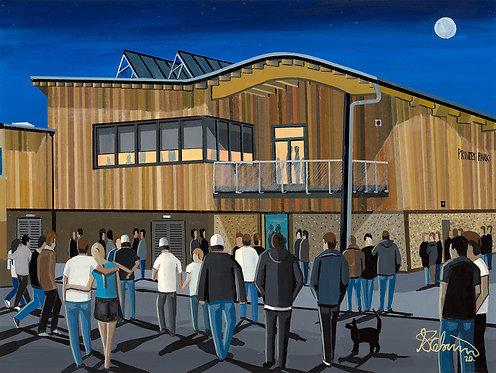 Dartford F.C Princes Park Stadium Stadium Framed High Quality Art