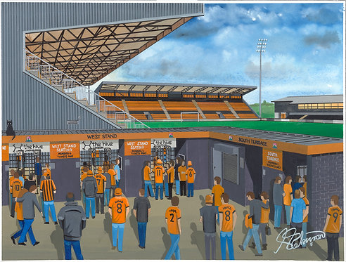 Barnet F.C The Hive Stadium High Quality Framed Art Print