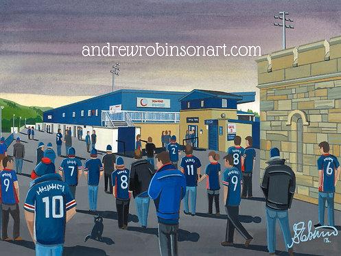Ross County Victoria Park Stadium Framed High Quality Art Print