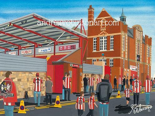 Exeter City FC St. James's Park Stadium High Quality Framed Print