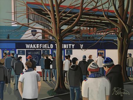 """Dreadnought Fort"" Wakefield Trinity R.L.F.C, Belle Vue Stadium."