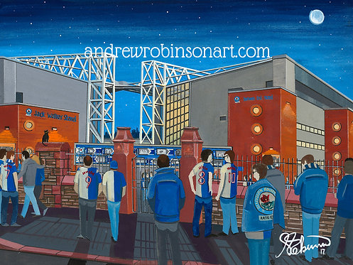 Blackburn Rovers F.C, Ewood Park Stadium High Quality Framed Giclee Art Print