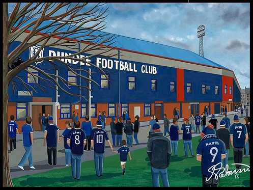 Dundee F.C, Dens Park Stadium High Quality Framed Print