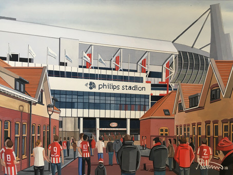 """Lightbulb Legion"". PSV Eindhoven. Philips Stadion."