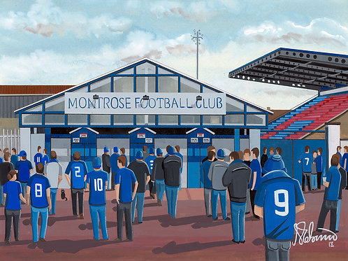 Montrose F.C Links Park Stadium Stadium Framed High Quality Art