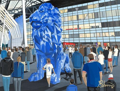 Olympique Lyonnais Groupama stadium Framed High Quality Art Print