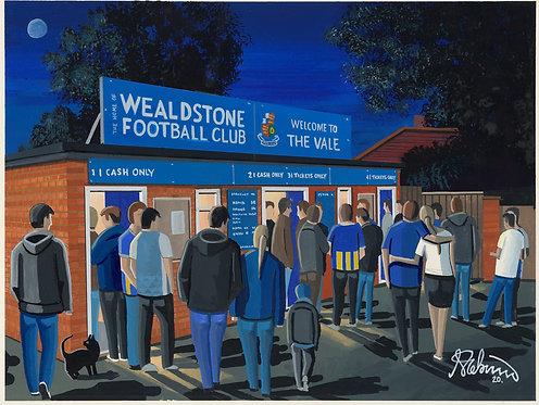 Wealdstone F.C, Grosvenor Vale Stadium. Framed High Quality Art Prin
