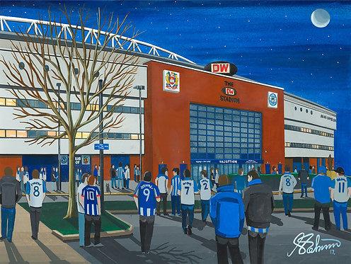 Wigan Athletic F.C, DW Stadium High Quality Framed Giclee Art Print