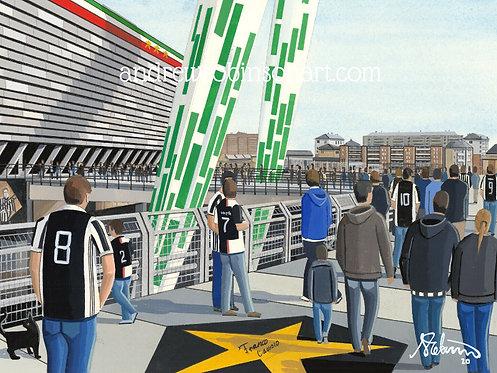Juventus, Allianz Stadium Framed High Quality Art Print
