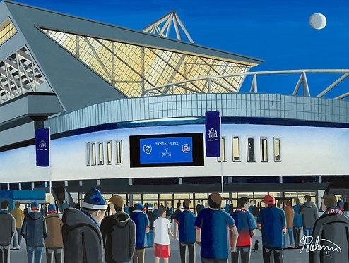 Bristol Bears, Ashton Gate Stadium. Framed High Quality Art Print
