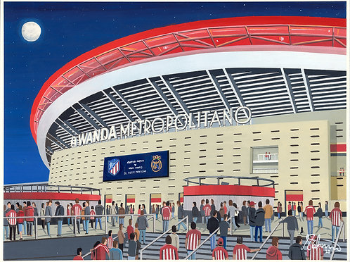 Atletico Madrid Metropolitano Stadium Framed High Quality Art Prin