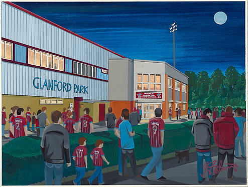 Scunthorpe United FC Glanford Park High Quality Framed Print