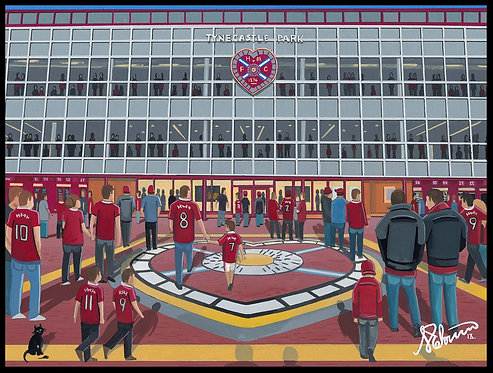 Heart of Midlothian F.C, Tynecastle Stadium High Quality framed Giclee Art Print
