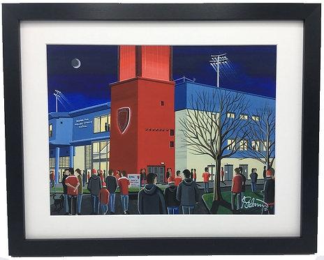 Hull KR, Craven Park Stadium Framed High Quality Art Print