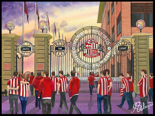 Sunderland A.F.C, Stadium of Light High Quality framed Giclee Art Print