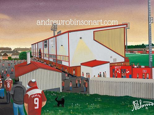 Hamilton Academical F.C, New Douglas Park Stadium Framed High Quality Art Print