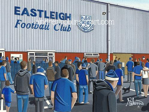 Eastleigh F.C Silverlake Stadium Framed High Quality Art Print