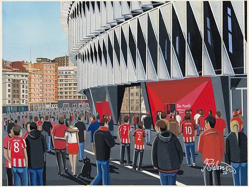 Athletic Bilbao F.C San Memes Stadium Framed High Quality Art Print