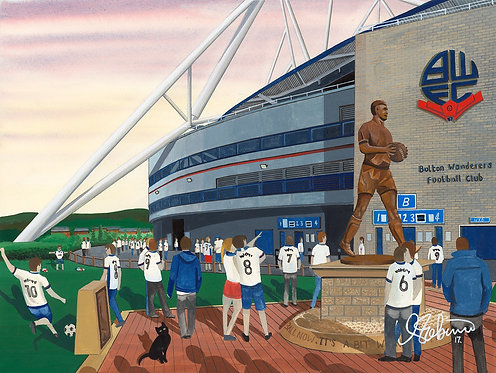 Bolton Wanderers F.C, University Of Bolton Stadium High Quality Framed Art Print