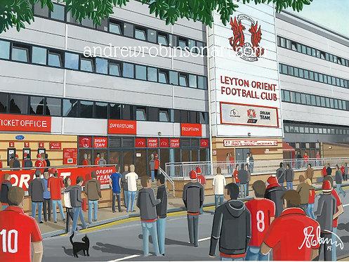 Leyton Orient F.C Brisbane Road High Quality Framed Art Print